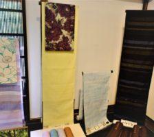結城紬と染帯展②